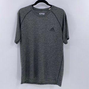 Adidas mens ultimate tee shirt sz L Large gray